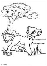 El rey león para colorear (5/12)