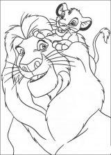 Imágenes de el rey león para colorear (10/12)