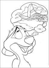 Dibujos para pintar de el rey león (3/12)