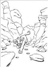Dibujos para pintar de el rey león (11/12)