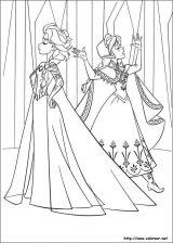 Elsa y Anna para colorear (1/12)