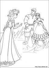 Elsa y Anna para colorear (2/12)