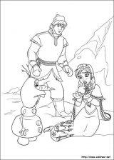 Elsa y Anna para colorear (5/12)