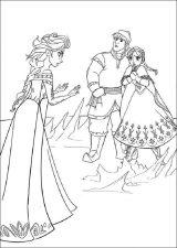 Elsa y Anna para colorear (7/12)