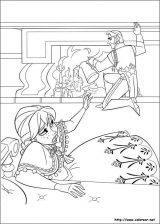 Elsa y Anna para colorear (9/12)