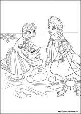 Elsa y Anna para colorear (11/12)