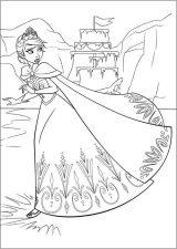 Dibujos para pintar de Frozen (10/13)