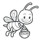 dibujos de abejas para colorear (5/16)