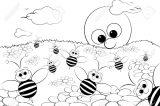 dibujos de abejas para colorear (12/16)