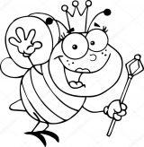 dibujos de abejas para imprimir y colorear (3/9)