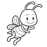 dibujos de abejas para imprimir y colorear (4/9)