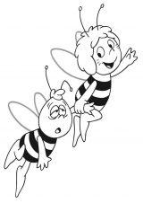 dibujos de abejas para imprimir y colorear (7/9)