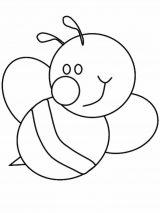 dibujos de abejas para imprimir y colorear (9/9)