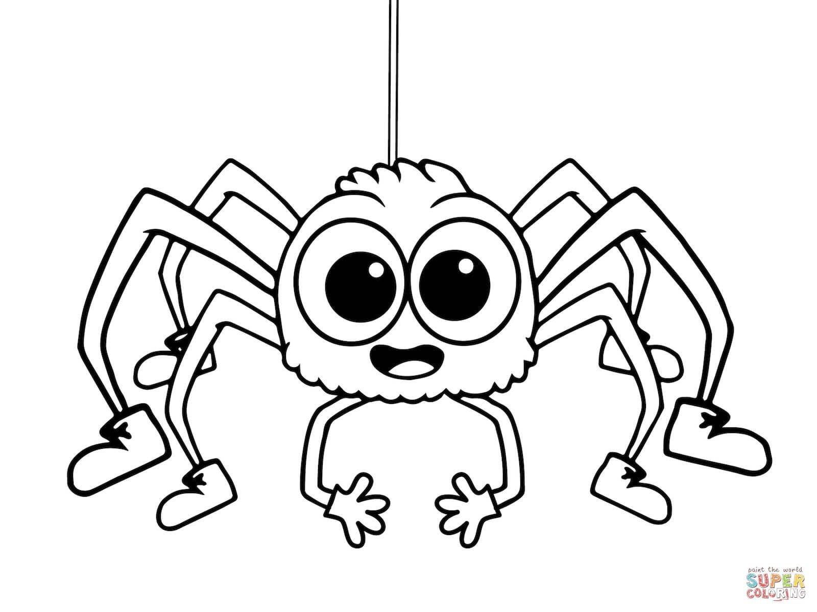 Arañas para colorear 2019 | Dibujos de arañas para colorear