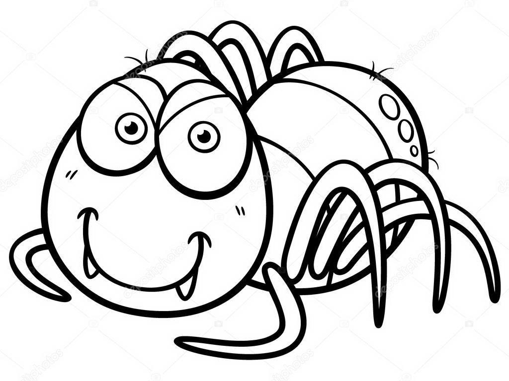 Arañas De Halloween Para Colorear