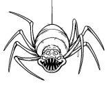 Arañas para colorear (17/20)