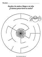 Arañas para colorear (18/20)