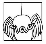 Arañas para colorear (11/16)
