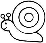 imagenes de caracoles para colorear (1/20)