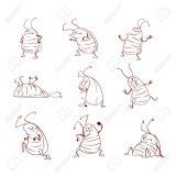Cucarachas infantiles para colorear (2/16)