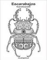 Imágenes para pintar de escarabajos (8/12)