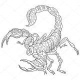 Dibujos de escorpiones para imprimir (12/12)