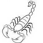 Dibujos de escorpiones para colorear e imprimir (2/8)