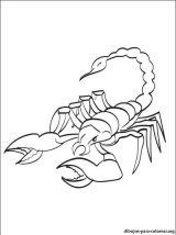 Dibujos de escorpiones para colorear e imprimir (3/8)