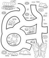 Imágenes de gusanos de seda para colorear (1/8)