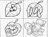 Imágenes de gusanos de seda para colorear (2/8)