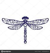 Imágenes de libélulas para dibujar (1/16)