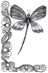 Imágenes de libélulas para dibujar (9/16)