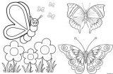 Imágenes de mariposas para colorear (3/16)