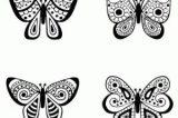 Imágenes de mariposas para pintar (11/16)