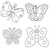 Dibujos de mariposas para pintar (10/11)