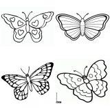 Dibujos de mariposas para pintar (11/11)