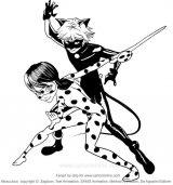Cat noir para colorear (3/8)