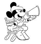 Mickey para pintar (4/8)