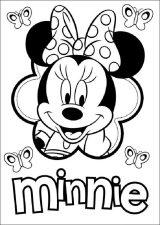 Los mejores dibujos para colorear de Minnie (7/16)