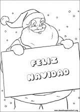 Dibujos de Navidad para colorear (78/365)