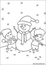 Dibujos de Navidad para colorear (83/365)
