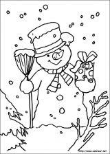 Dibujos de Navidad para colorear (121/365)