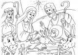 Dibujos de Navidad para colorear (124/365)