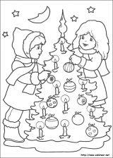 Dibujos de Navidad para colorear (234/365)
