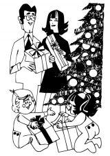 Dibujos de Navidad para colorear (300/365)