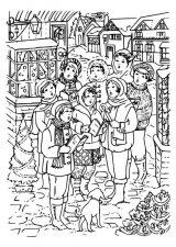 Dibujos de Navidad para colorear (358/365)