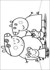 Peppa Pig para colorear. Imágenes de Peppa para colorear (2/8)