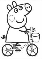 Peppa Pig para colorear. Imágenes de Peppa para colorear (3/8)