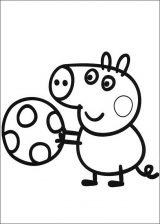 Peppa Pig para colorear. Imágenes de Peppa para colorear (4/8)