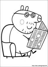 Peppa Pig para colorear. Imágenes de Peppa para colorear (5/8)